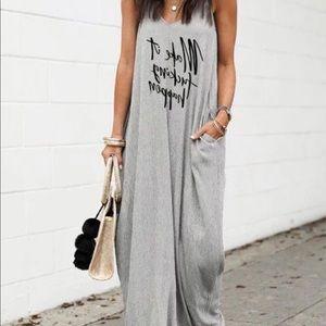 NIP Casual Comfortable Sleeveless Maxi Dress